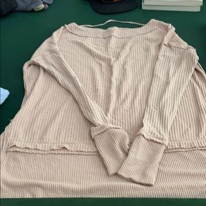 Free People/we the free waffle knit